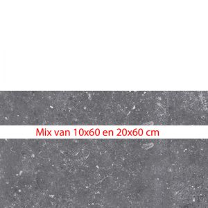 La Fabricca mix stroken blue evolution anthracite 10x60/20x60 - Thuis in Tegels