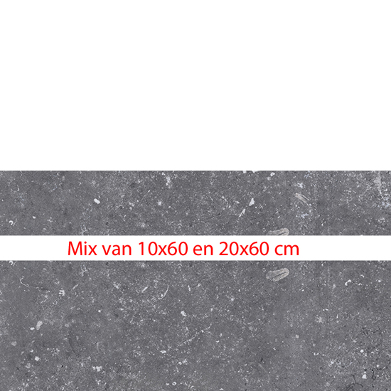 La Fabricca mix stroken blue evolution anthracite 10x60/20x60