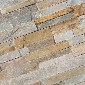 Stone Panels golden quarzite/mix colour 15x60 - Thuis in Tegels
