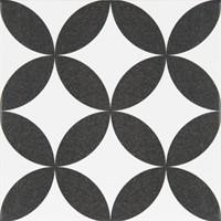 Vloertegel Revoir Paris la madeleine gilles noir 20x20 - Thuis in Tegels