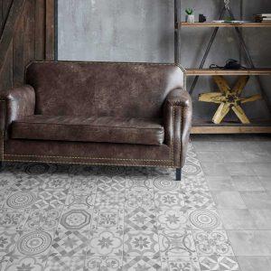 Decor tegel Beste Koop icon silver mix decor 20x20 - Thuis in Tegels