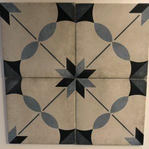Vloertegel Equipe Art Nouveau arcade blue 20x20 - Thuis in Tegels