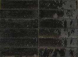 Wandtegel Piet Boon glaze tile black 6x24 - Thuis in Tegels