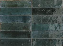 Wandtegel Piet Boon glaze tile blue 6x24 - Thuis in Tegels