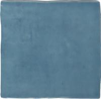 Wandtegel Revoir Paris atelier turquoise glans 10x10 - Thuis in Tegels