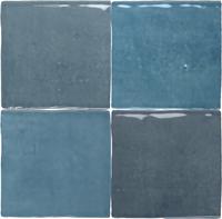 Wandtegel Revoir Paris atelier turquoise glans 10x10