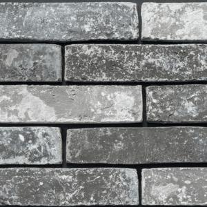 Steenstrips vtwonen Brick Industrial Dark Grey Mele 5x20 - Thuis in Tegels